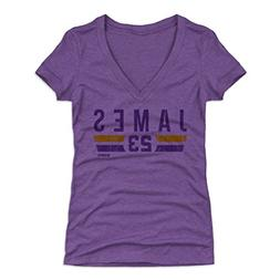 500 LEVEL Lebron James Women's V-Neck Shirt Large Tri Purple