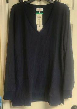 Lucky Brand Lightweight Tunic V-Neck Pullover Sweater new wi