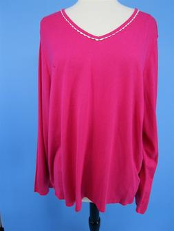 Nautica Long Sleeve Top Pajama PJ Sleep Star Headband Pink S