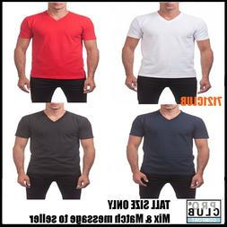 LOT 5 PACK PRO CLUB V NECK T SHIRTS MEN'S SHORT SLEEVE TEE B