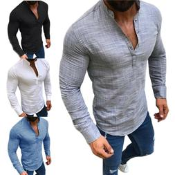 mens long sleeve tops blouse muscle t
