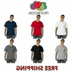 Fruit of the Loom Men's 100% Cotton V-Neck T-Shirt Vee Tee S