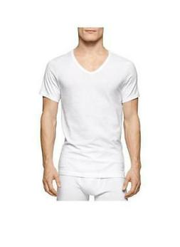 Calvin Klein Men's 3 Pack Cotton Classics Slim Fit V-Neck T-