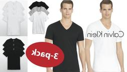 Calvin Klein Men's 3-Pack Cotton V-Neck or Crew Neck Classic