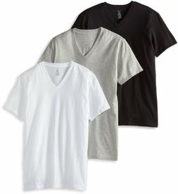 Men's Calvin Klein 3 Three Pack Classic Cotton V-Neck Tee Sh
