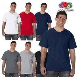 Fruit of the Loom Men's 5 oz 100% Heavy Cotton HD V Neck T-S