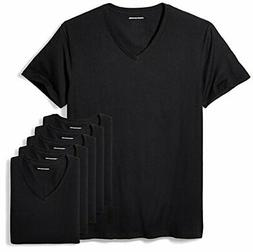 Amazon Essentials Men's 6-Pack V-Neck Undershirts Casual Fit