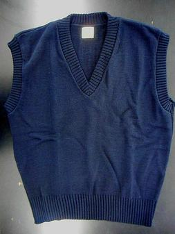 Men's A+ Navy V-Neck Pullover Sweater Vest Sizes Small - 7X