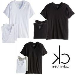 Calvin Klein Men's CK Underwear 3 Pack Classic Fit V-neck T-