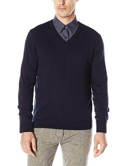 men s classic solid v neck sweater