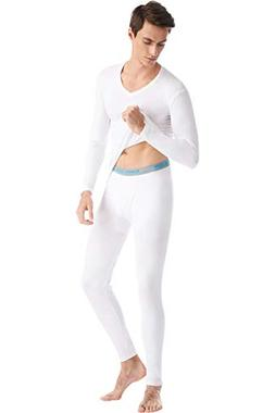SANQIANG Men's Cotton Thermal Underwear Set Top & Bottom Sof