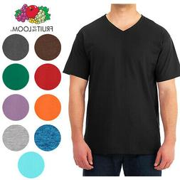 Fruit of the Loom Men's Dual Defense Short Sleeve V Neck T S
