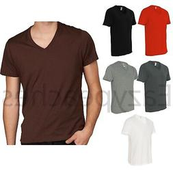 Alternative Apparel - Men's Premium V-Neck T-Shirt Basic Pla