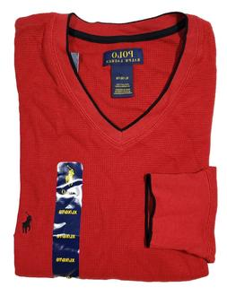 Polo Ralph Lauren Men's Red Tipped Waffle Thermal Long Sleev