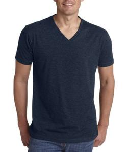 Next Level Men's Short Sleeve Solid Premium CVC V-Neck T-shi