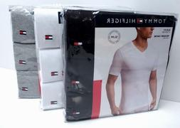 TOMMY HILFIGER Men's Slim Fit V-Neck Underwear Tee-Shirt*3 P