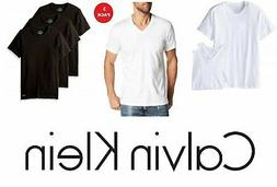 Calvin Klein Mens 3 Pack T shirt V-Neck Or Crew Neck Cotton