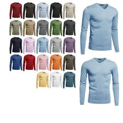 FashionOutfit Men's Top Casual Solid Soft Knitted Long Sleev