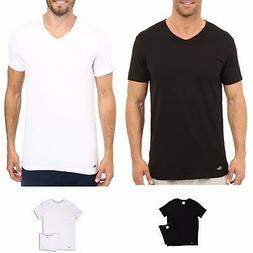 Lacoste Men's Underwear NEW 2 Pack V-Neck T-Shirt Cotton Ble