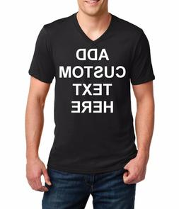 Men's V-neck Custom Personalized T Shirts Your Own Text Busi