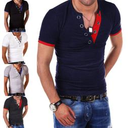 men s v neck short sleeve t