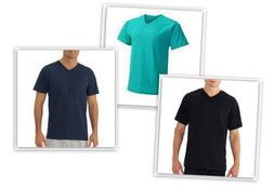 Fruit of The Loom Men's V Neck Short Sleeve Tee Shirts cotto