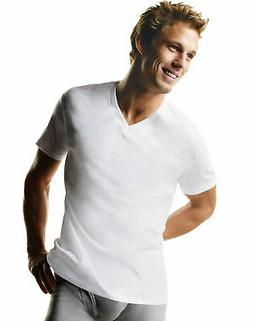Hanes Mens Big & Tall V-Neck 3-Pack Undershirt T-Shirt Comfo