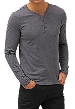 Aiyino Mens Casual V-Neck Button Cuffs Cardigan Long Sleeve