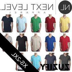 Next Level Apparel Mens Fitted Short-Sleeve V-Neck Tee. 3200