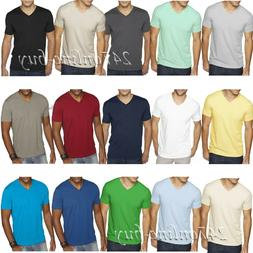 Next Level Mens Premium Fitted Sueded V Neck T Shirt Vneck T