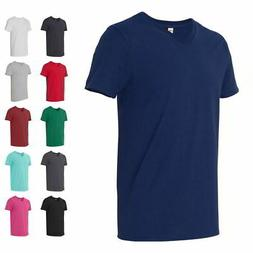 Fruit of the Loom Mens Short Sleeve SofSpun Jersey V-Neck T-