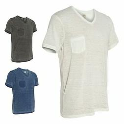 Alternative Apparel Mens Short Sleeve V-neck, T-Shirt, S-2XL