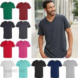 Fruit of the Loom Mens SofSpun Jersey V Neck T Shirt Cotton
