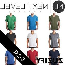 Next Level Apparel Mens Tri-Blend V-Neck T-Shirt. 6040