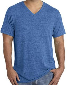 mens tri blend v neck tee shirt