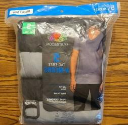 MENS FRUIT OF THE LOOM V-NECK TAG FREE T-SHIRTS 5 PACK  SIZE