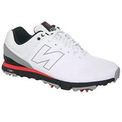 New Balance Men's NBG574 Golf Shoe,White/Red,15 D US