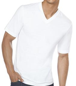 New 3-6 Pack Mens 100% Cotton Tagless V-Neck T-Shirt Undersh