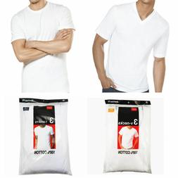 New 6 Pack For Men's 100% Cotton Tagless T-Shirt Undershirt