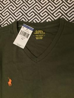 NEW Men Polo Ralph Lauren V-Neck T Shirt Size S,