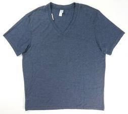 NEW MENS ALTERNATIVE EARTH APPAREL HEATHERED BLUE V-NECK T-S