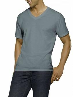 New Reinvented Tee! Men's Black/Gray V-necks, 4-Pack SIZE XL