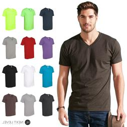 Next Level Mens Fitted Simple Plain CVC V-Neck Tee T-Shirt S