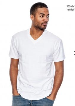 next level Men's HEAVY WEIGHT V-Neck T-Shirt Lot Blank Plain