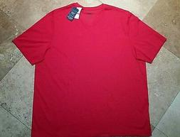 *NWT Perry Ellis V Neck Short Sleeve Tee Shirt Pima Cotton B