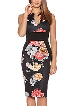 Fantaist Women's Patchwork Floral Print Formal Business Part