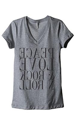 Thread Tank Peace Love and Rock 'N Roll Women's Fashion Rela