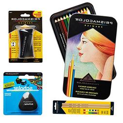 Prismacolor 12-Count Colored Pencils, Triangular Scholar Pen