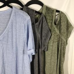 Plus Size Tops T Shirts V Neck Short Sleeve Tees Style & Co.
