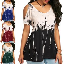 plus size women s short sleeved loose